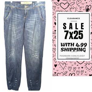 ROSE PISTOL Distress Rio Denim Jeans SZ 4